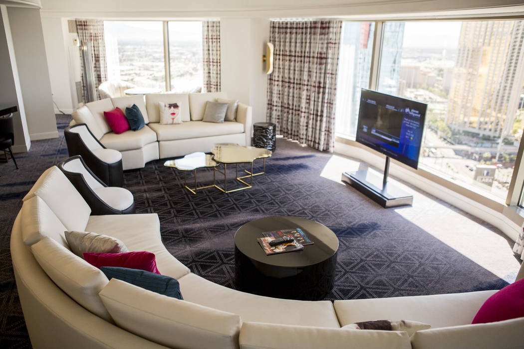 A newly renovated panorama suite at the Planet Hollywood Resort  May 25. (Patrick Connolly Las Vegas Business Press)