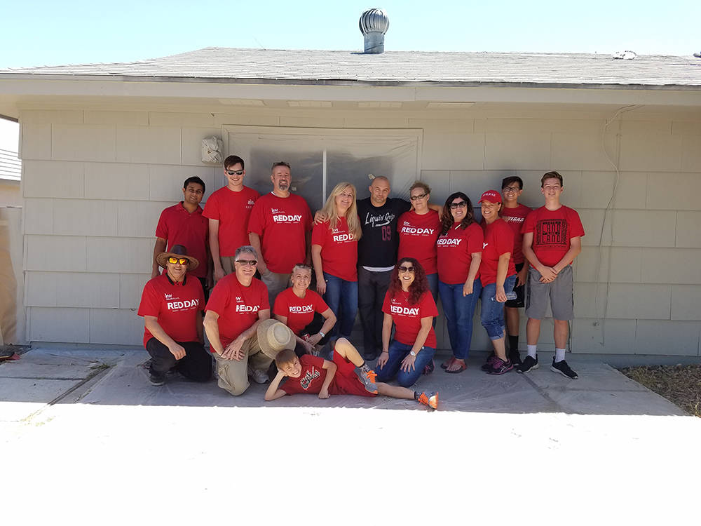 210 local Keller Williams Realty Las Vegas agents volunteered their time helping homeless youth through NPHY for the real estate firm's national RED Day service project for the fifth year in a r ...