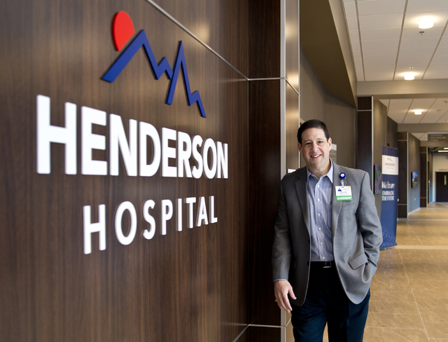 Henderson Hospital CEO Sam Kaufman. (Daniel Clark/Las Vegas Business Press)
