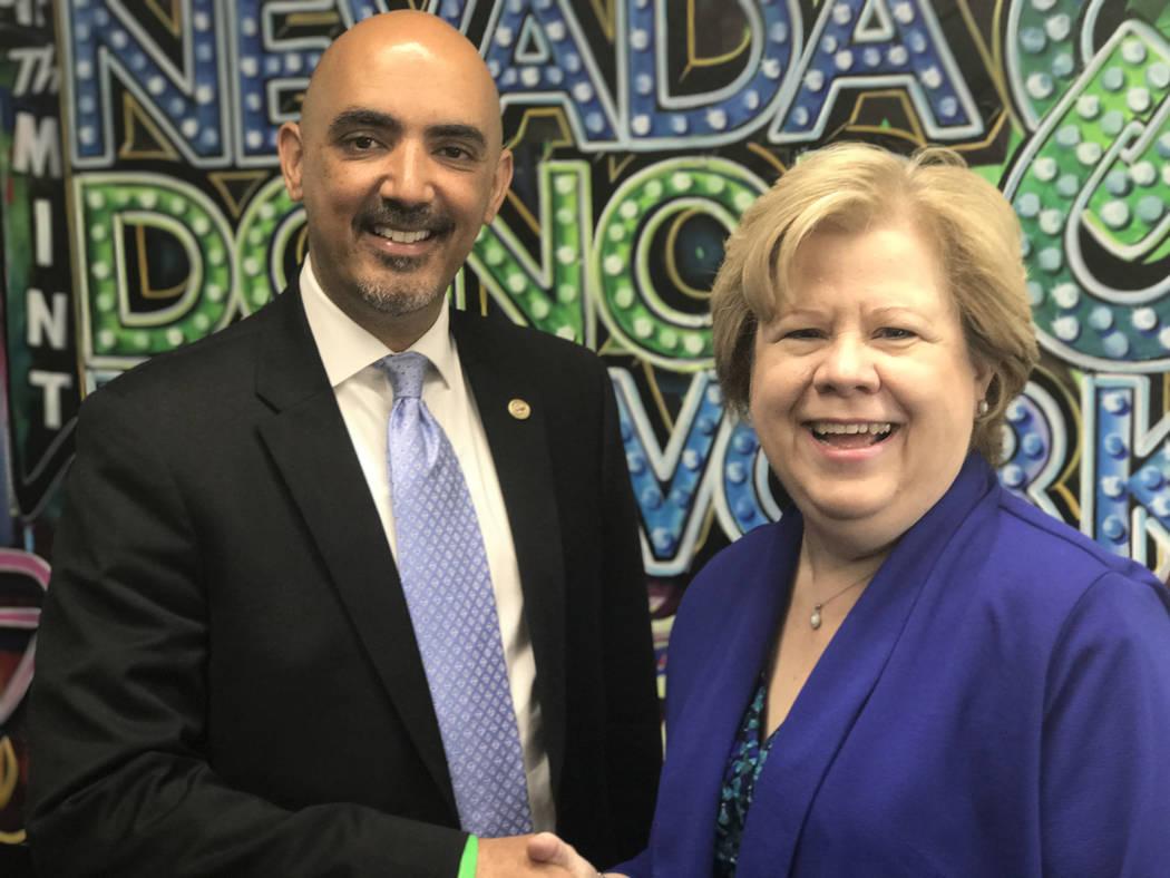 Buford Davis / Las Vegas Business Press Joe Ferreira, CEO of Nevada Donor Network, discusses career advice with host Debbie Donaldson