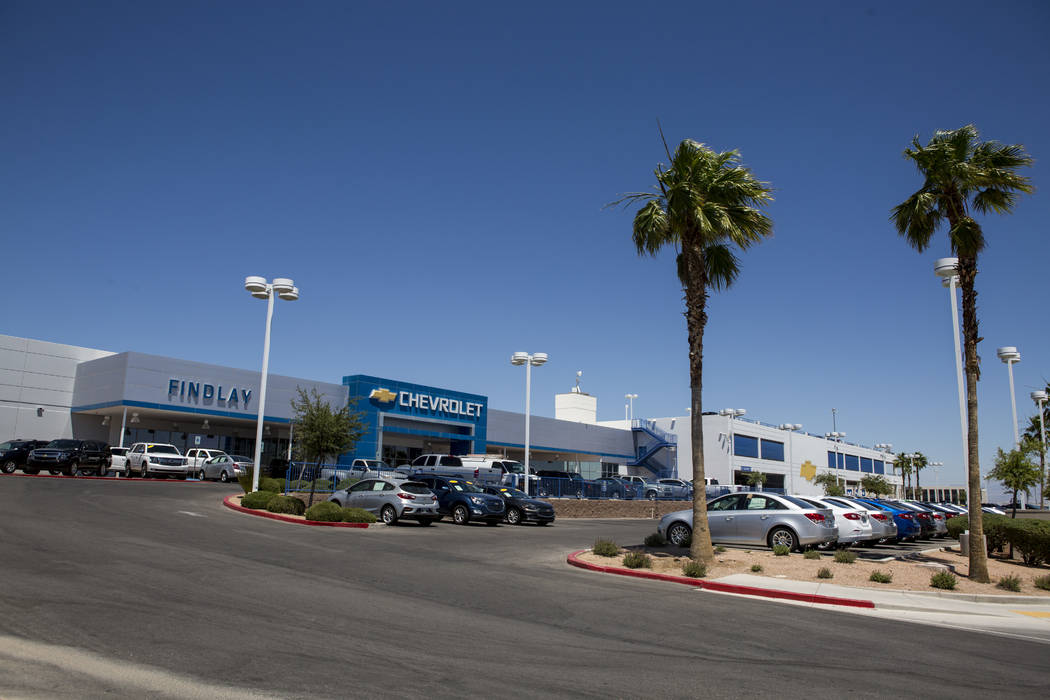 Findlay Chevrolet is open next to the construction site of the new Findlay Subaru near Rainbow Boulevard and 215 West on Monday, June 5, 2017. Patrick Connolly Las Vegas Review-Journal @PConnPie