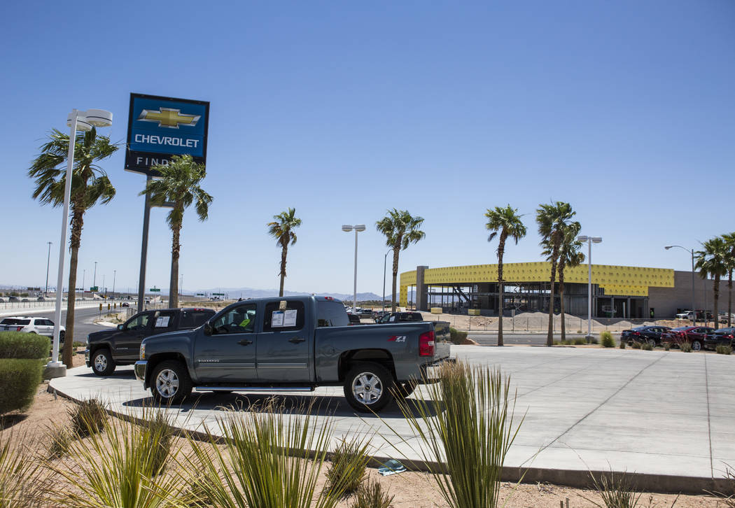 The construction site of the new Findlay Subaru is seen from the Findlay Chevrolet near Rainbow Boulevard and 215 West on Monday, June 5, 2017. Patrick Connolly Las Vegas Review-Journal @PConnPie