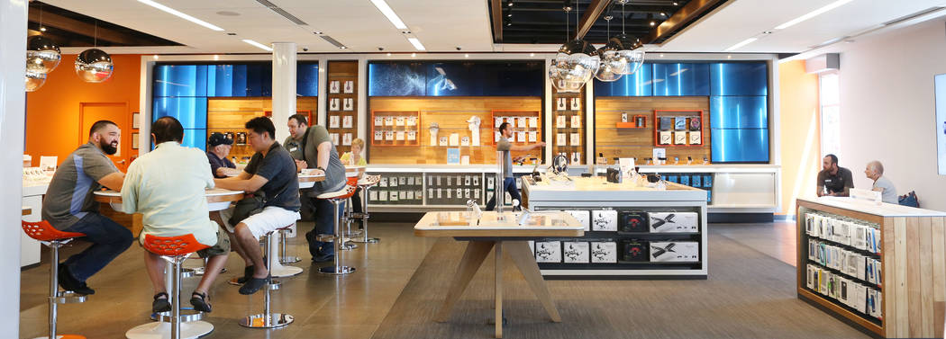 An AT&T store located at 920 S. Rampart Blvd. conducts business in Las Vegas,  Monday, June 5, 2017.  Elizabeth Brumley/Las Vegas Review-Journal