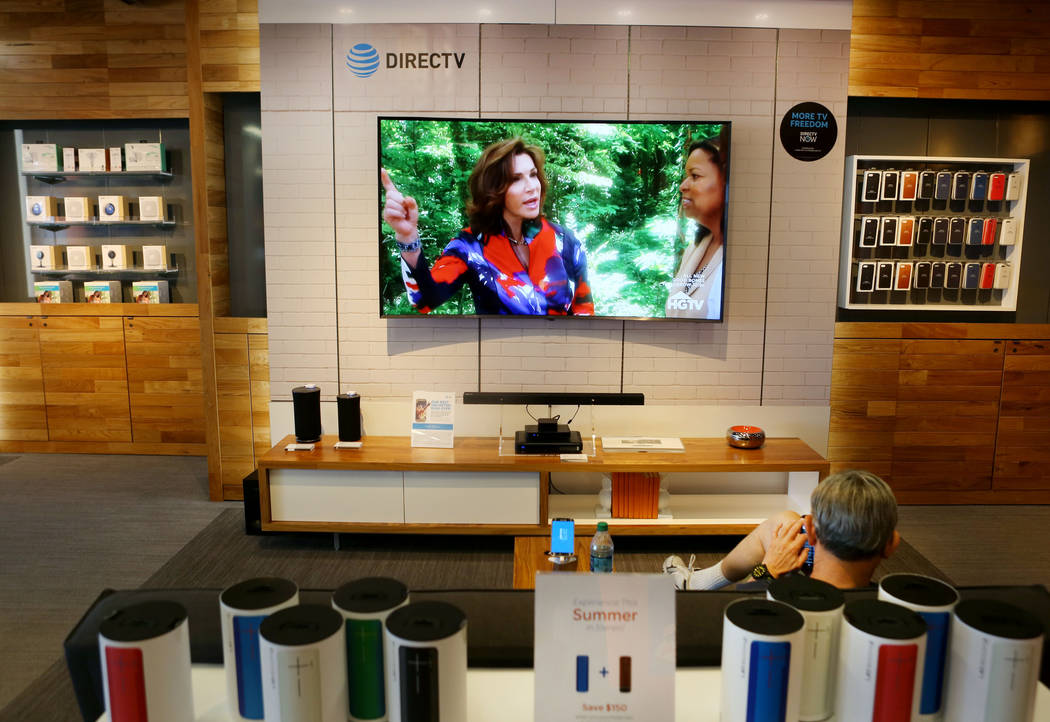 An AT&T store located at 920 S. Rampart Blvd. has a sitting area in their  futuristic store model in Las Vegas,  Monday, June 5, 2017.  Elizabeth Brumley/Las Vegas Review-Journal