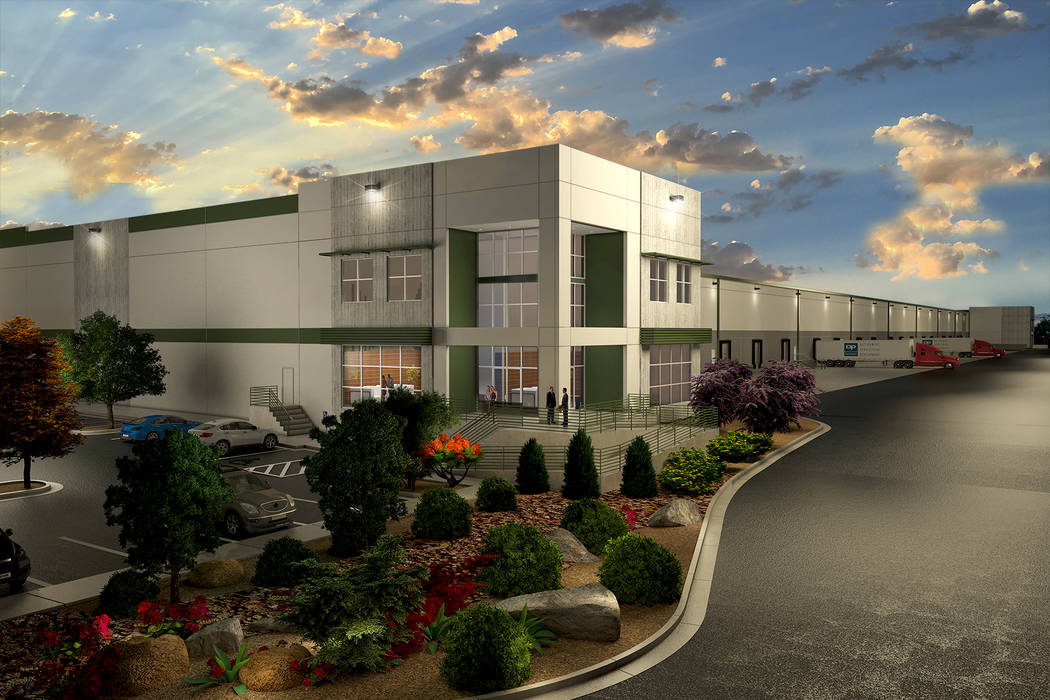 Rendering of Dermody Properties' 546,480-square-foot LogistiCenter at Las Vegas Boulevard near Las Vegas Boulevard North and Walnut Road. The project is slated to be completed at the end of the se ...