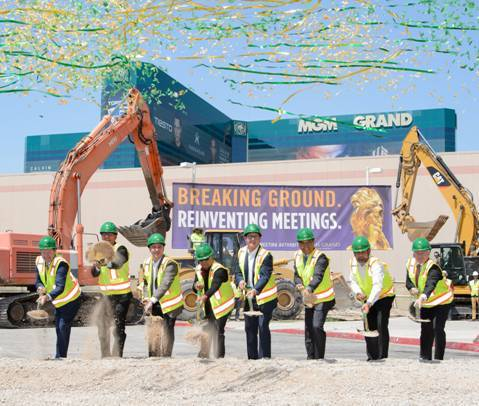MGM Grand Convention Center breaks ground on a $130 million expansion project. (Courtesy)