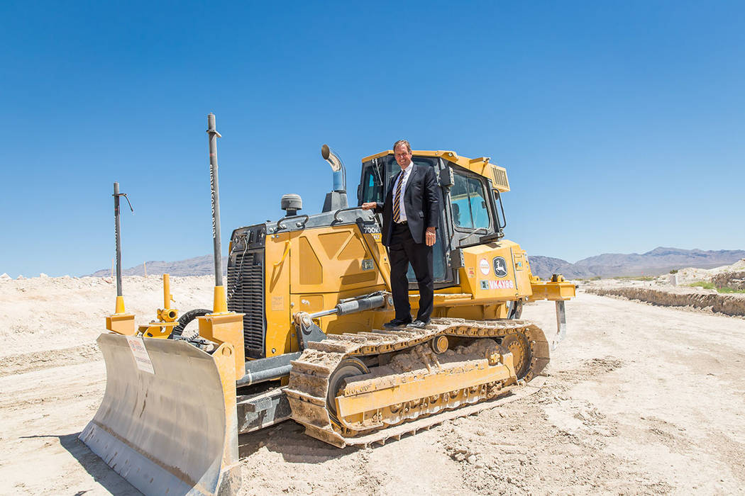 North Las Vegas Major John Lee attends the groundbreaking ceremony for Villages at Tule Springs in North Las Vegas was held June 27. (Villages at Tule Springs)