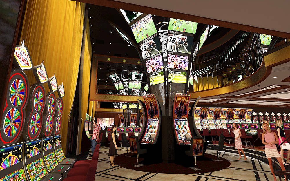 Nearly doubling in size, the new casino space will introduce almost 100 new slots to the casino floor.  (Courtesy rendering)
