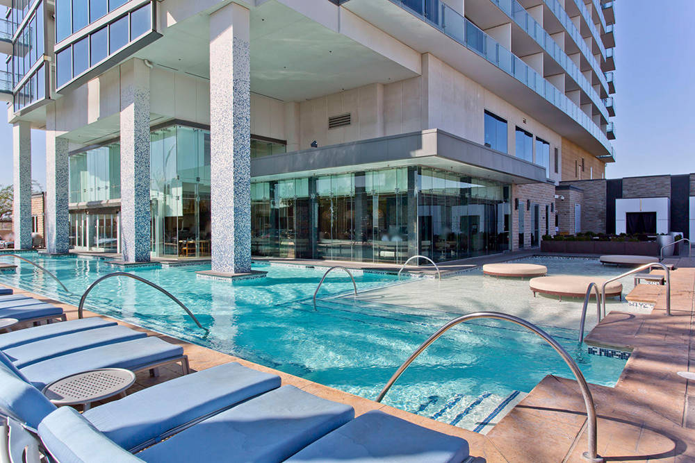 The pool at Palms Place. (Palms Place)