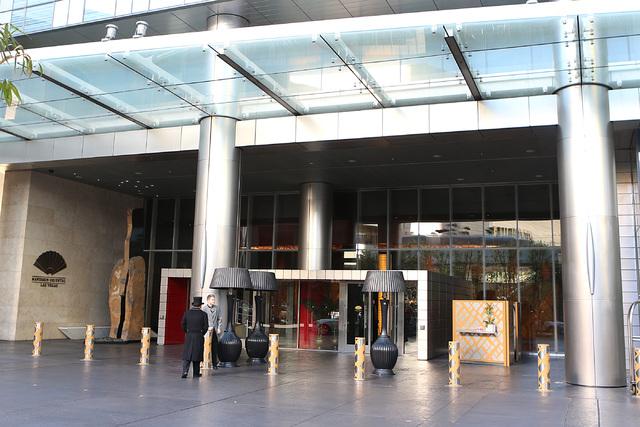 Entrance to Mandarin Oriental. (Bizuayehu Tesfaye Real Estate Millions)