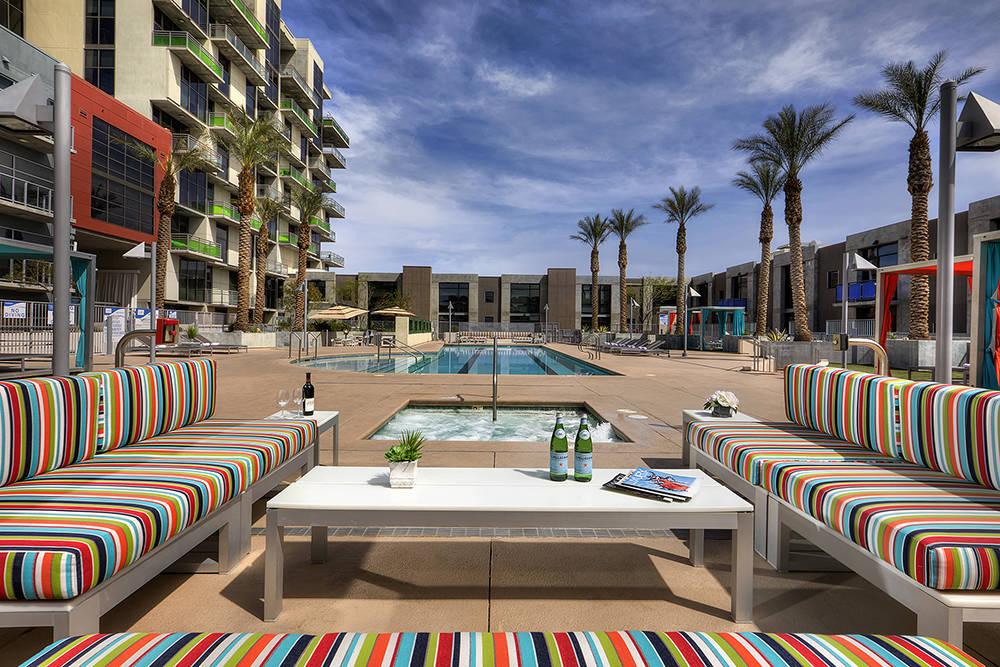 The downtown Las Vegas high-rise Juhl has a pool area. (Juhl)