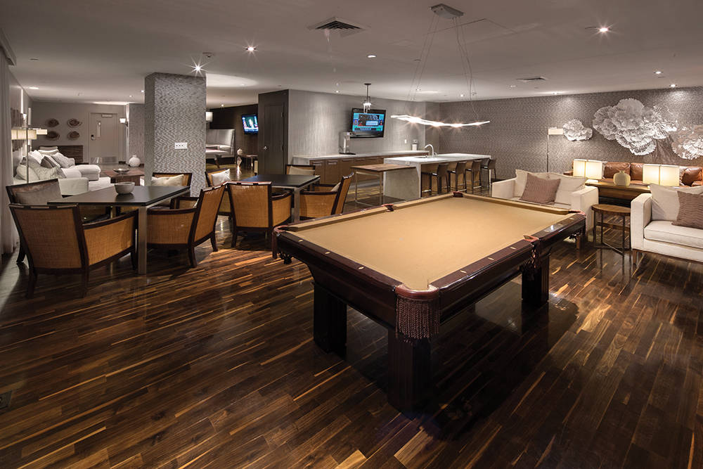The game room in  One Las Vegas. (One Las Vegas)