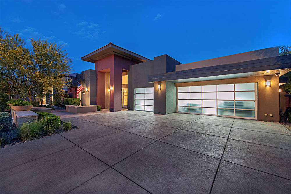 The home at 55 Meadowhawk Lane in The Ridges has a three-car garage. (Luxury Homes of Las Vegas)