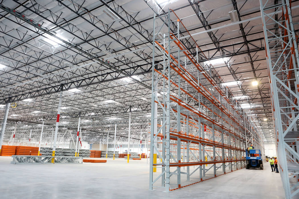 Construction of the newest Amazon warehouse at Northgate Distribution Center in North Las Vegas, Monday, March 27, 2017. (Elizabeth Brumley/Las Vegas Review-Journal) @EliPagePhoto