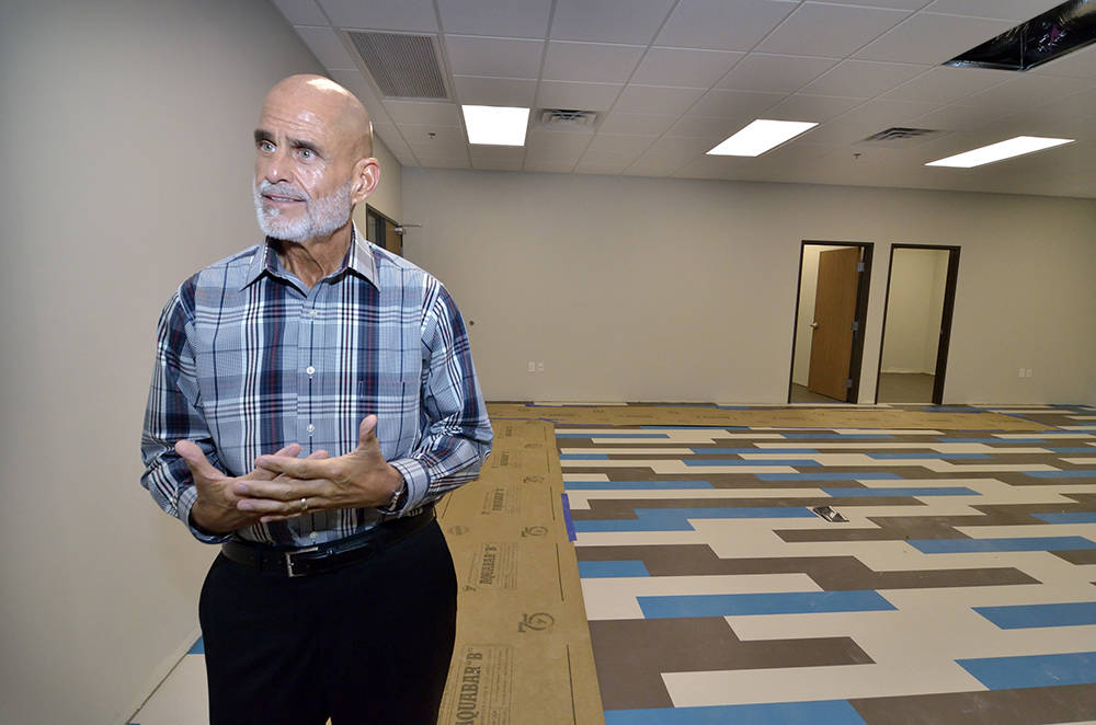 Jeff Gordon, president and CEO of the Nevada Childhood Cancer Foundation, is shown during a tour of the organization's new building at 3711 E. Sunset Road. (Bill Hughes Business of Medicine)