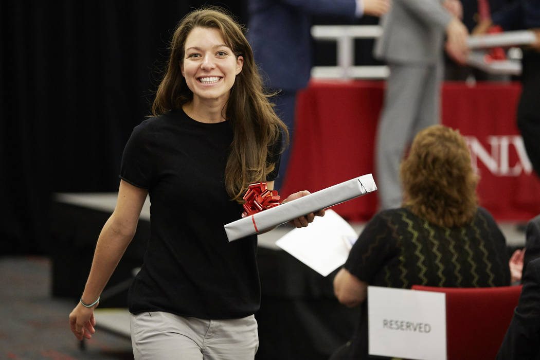 Erin Walsh, UNLV School of Medicine student, at the new school's stethoscope celebration July 17. (R. Marsh Starks UNLV Creative Services)