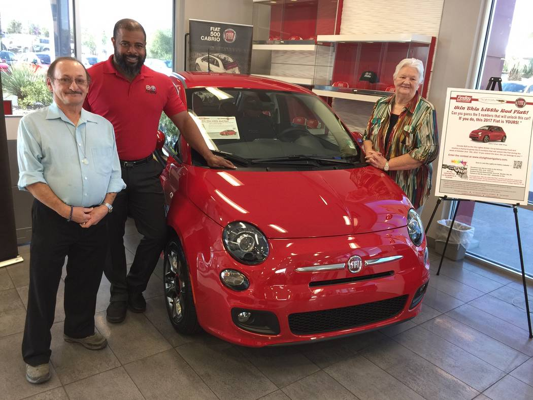"""A red 2017 FIAT 500 Pop is being offered as a grand prize to benefit City Lights Art Gallery at 3 E. Army St. in Henderson. Dubbed """"The Little Red Fiat,"""" the vehicle donated by Findlay Fiat in ..."""