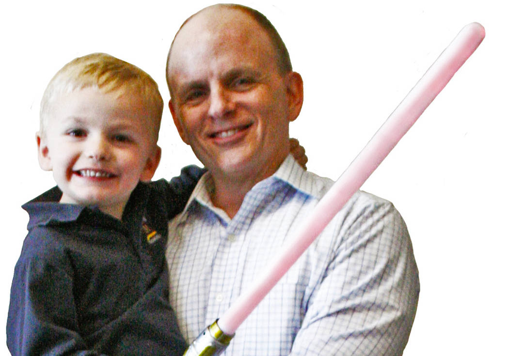 Jeff Grace, CEO of NetEffect, and his son Haiden