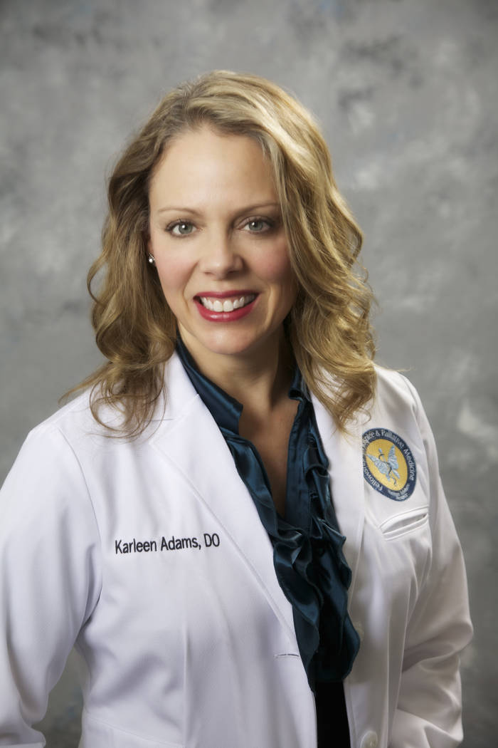 Dr. Karleen Adams, D.O., medical director, Nathan Adelson Hospice