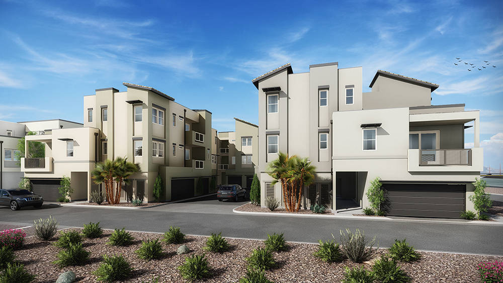 Builders are creating more affordable attached homes and resort-style luxury townhomes in Summerlin. (William Lyon Homes)
