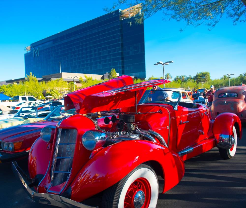 On Oct. 7, more than 700 cars and bikes took over the west parking lot at M Resort Spa Casino for the #VegasStrong Charity Car Meet. Organized by Celebrity Cars Las Vegas, Hellkat Racers and 360 C ...