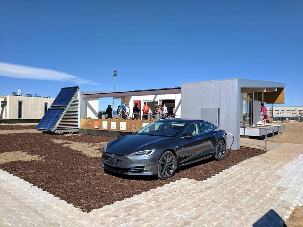 "UNLV students designed and built  the ""Sinatra Living"" home for the U.S. DOE Solar Decathlon 2017 competition in Denver this month. (UNLV)"
