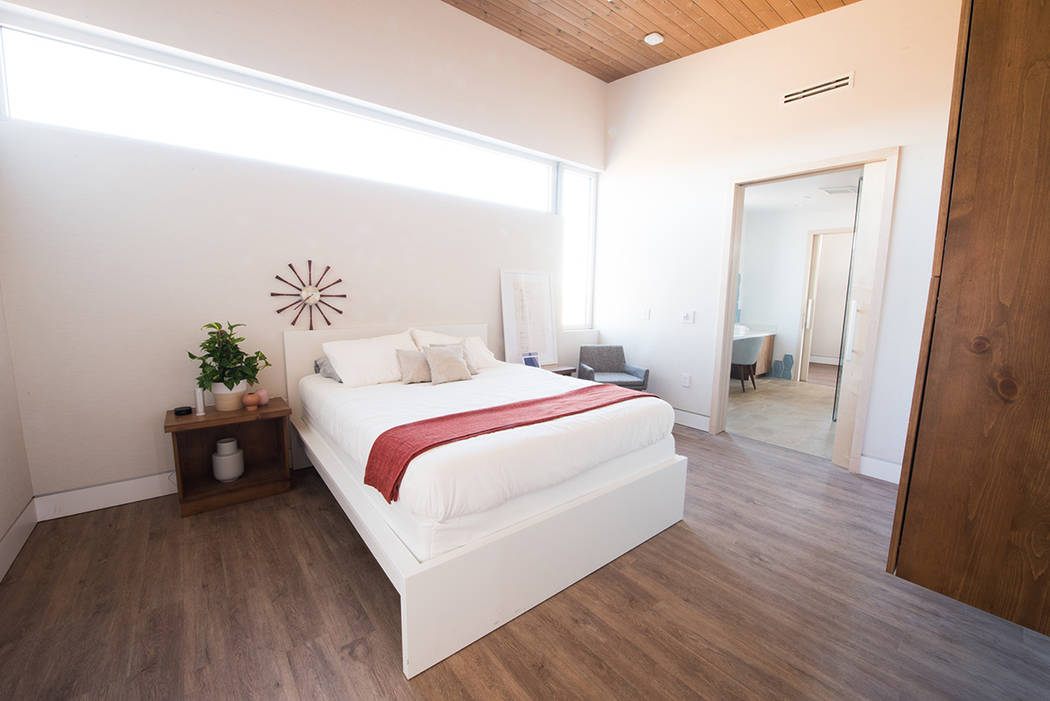 The UNLV Sinatra Living home includes a master bedroom area with lots of natural light. (UNLV)