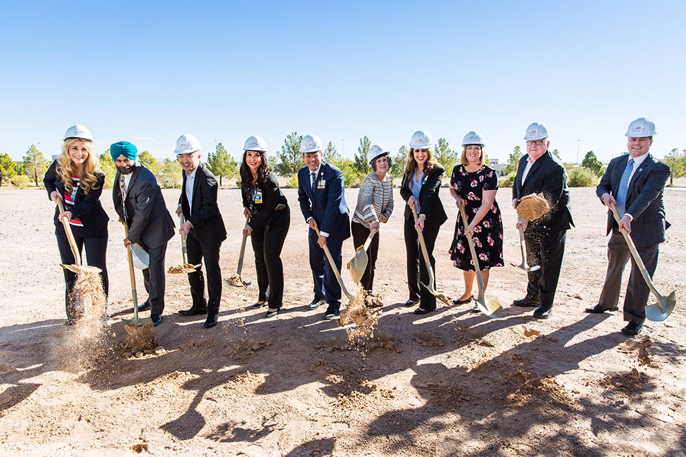 Local officials attend a ground-breaking ceremony for Southern Hills Hospital and Medical Center's new psychiatric center. (Courtesy of Behavioral Health Center at Southern Hills Hospital)