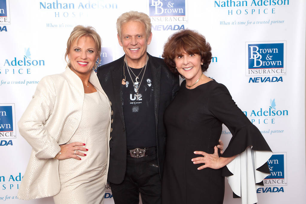 "Kelly E. LeGrow, Don Felder and Carole Fisher at the ""Serenades of Life — Doctors in Concert"" event Oct. 20 at The Smith Center for the Performing Arts. (Courtesy)"