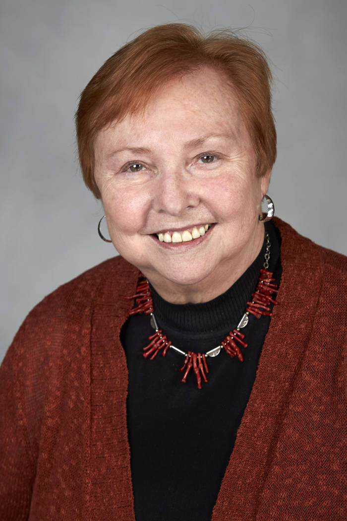 Dr. Barbara Atkinson, founding dean of the UNLV School of Medicine, has returned to work after battling her own personal medical crisis. (GERI KODEY/ UNLV Photo Services)