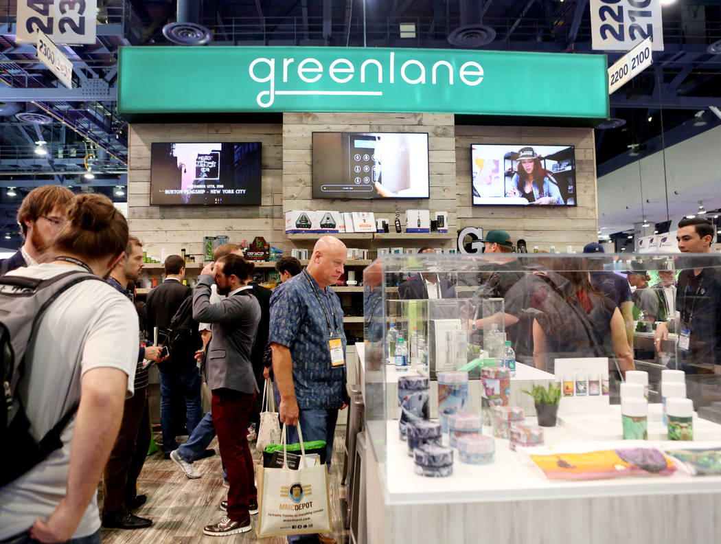 Greenlane dispensary services during the Marijuana Business Conference at the Las Vegas Convention Center. (Elizabeth Brumley Business Press)