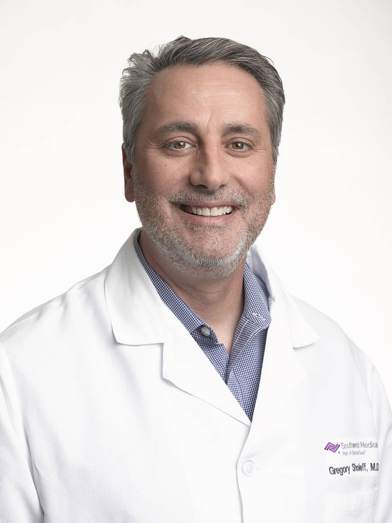 Dr. Gregory Sholeff, MD joins Southwest Medical's Siena Health Care Center (2845 Siena Heights Drive) and specializes in adult medicine.