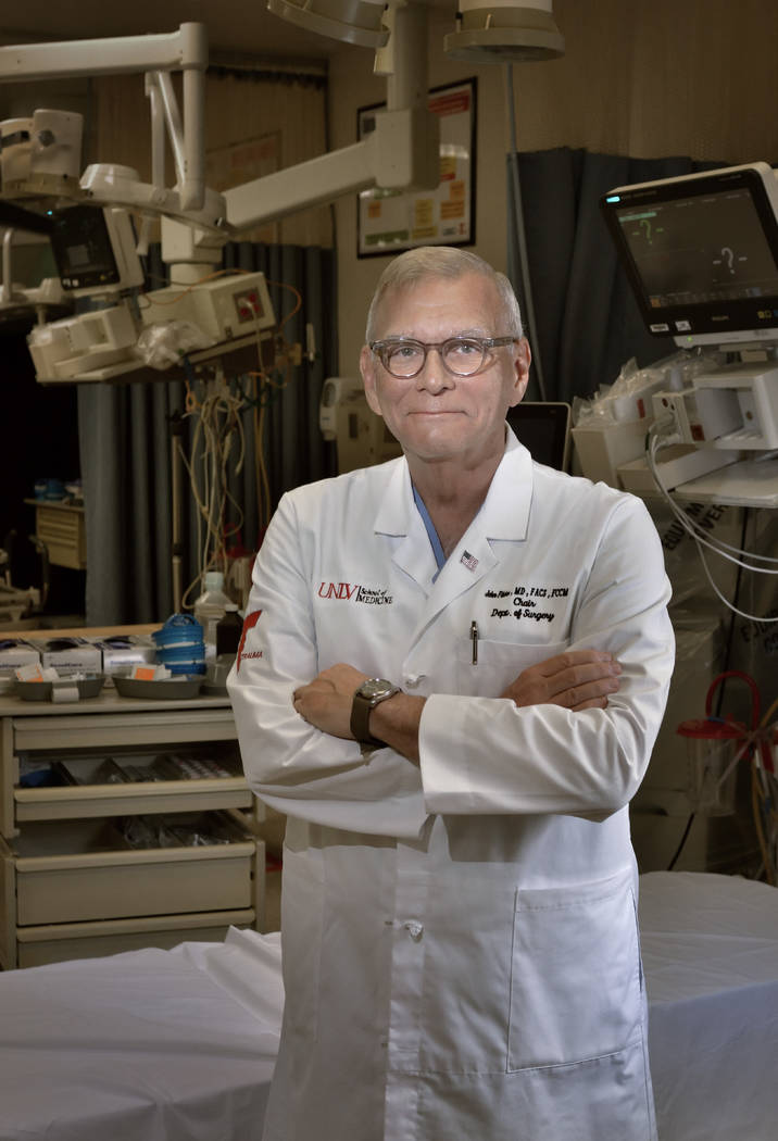 Dr. John Fildes, chief of surgery at the UNLV School of Medicine. (Bill Hughes Business of Medicine)