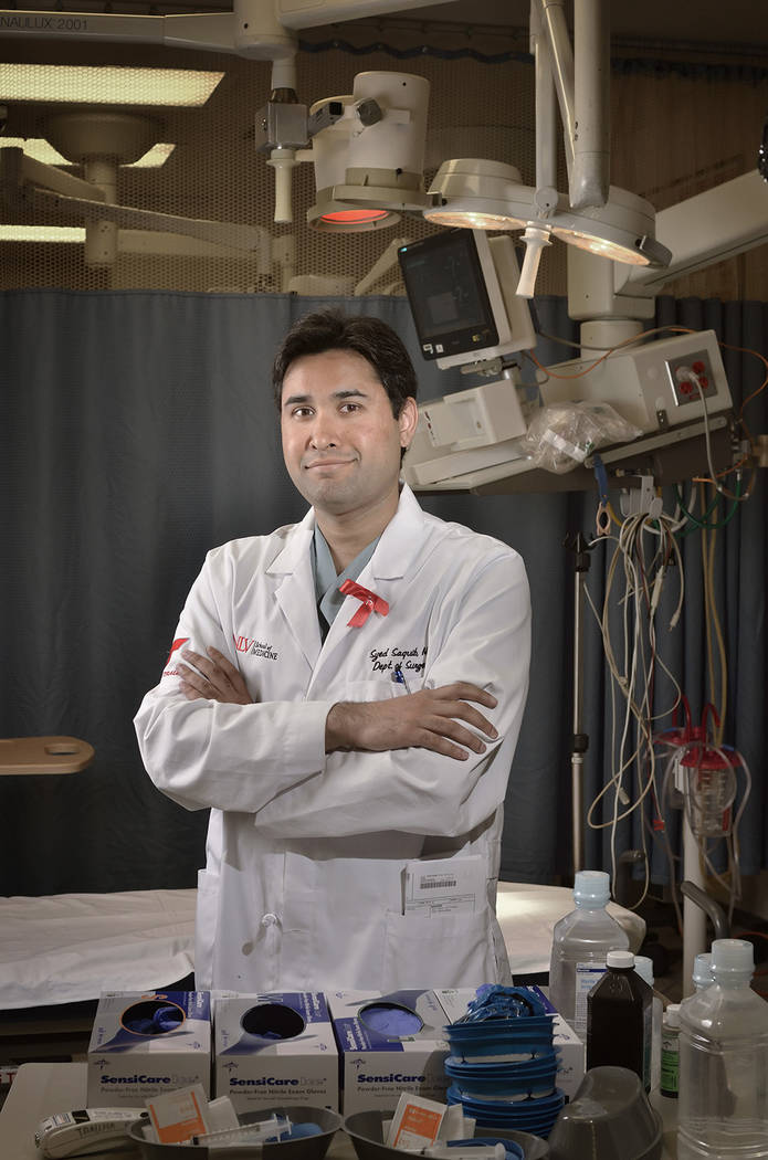 Trauma surgeon Dr. Syed Saquib in the UMC Trauma Center. (Bill Hughes Business of Medicine)