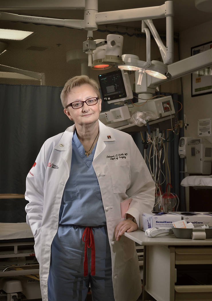 Dr. Deborah Kuhls, professor of surgery at the UNLV School of Medicine and medical director for the UMC Trauma Center intensive care unit. (Bill Hughes Business of Medicine)