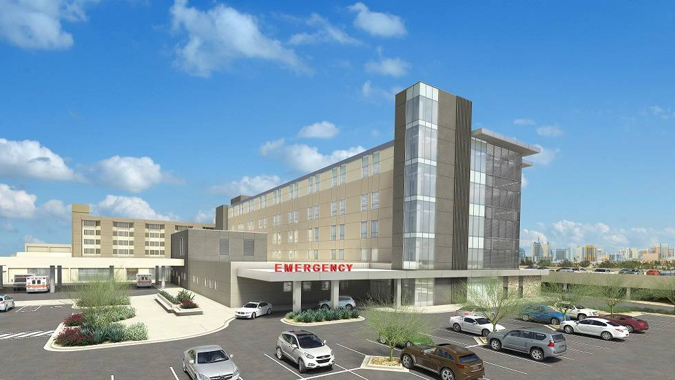 With a $130 million multiphase campus expansion, Sunrise Hospital and Medical Center and Sunrise Children's Hospital have broken ground on a 24-month construction project. (Sunrise Hospital and  ...