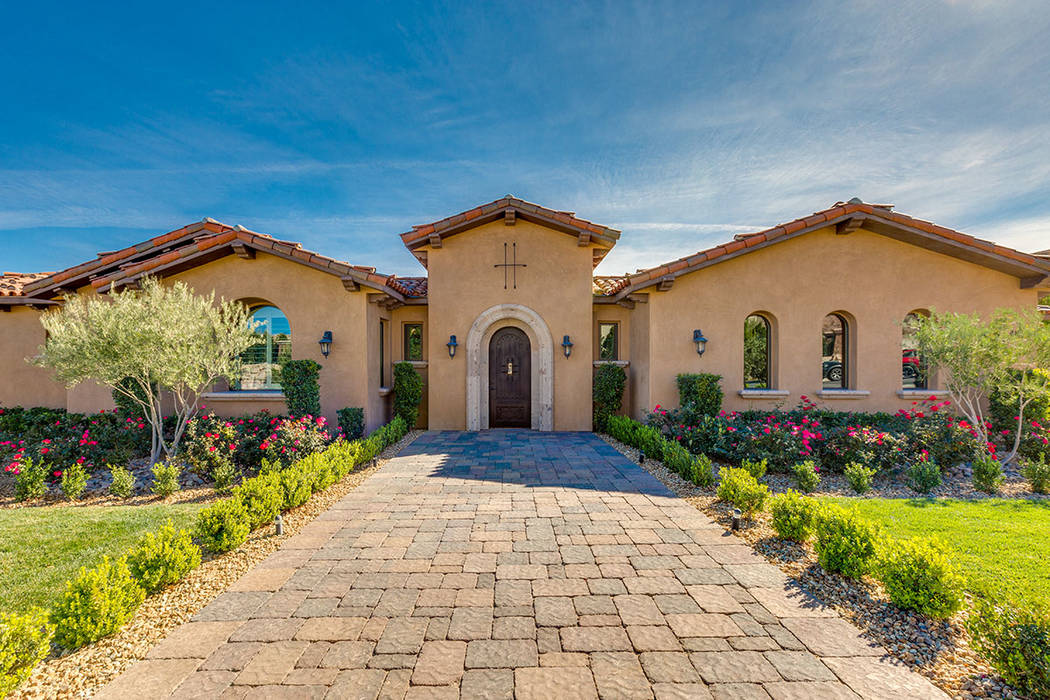 This home Southern Highlands is a good example of what sports figures are looking for in the Las Vegas Valley, according to Realtor Rhonda Allen. This home is listed at nearly $2.4 million. (Shapi ...