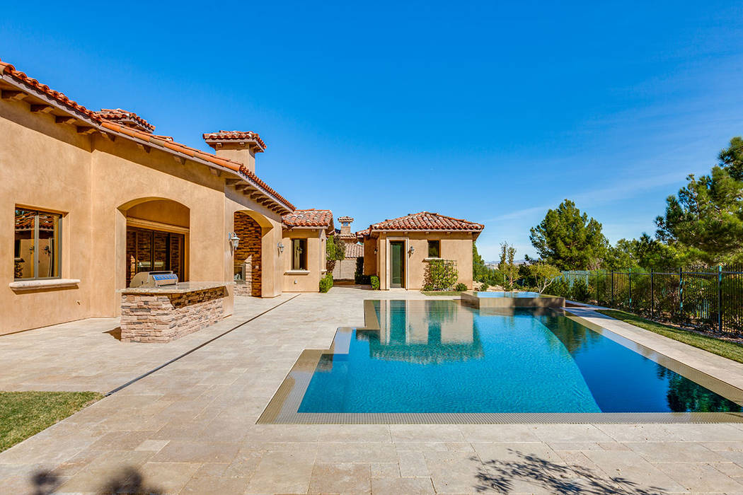 This home Southern Highlands has a pool and outdoor kitchen. (Shapiro & Sher Group)