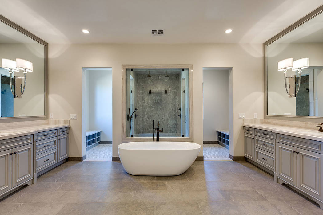 The Southern Highlands home offers a modern master bath. (Shapiro & Sher Group)