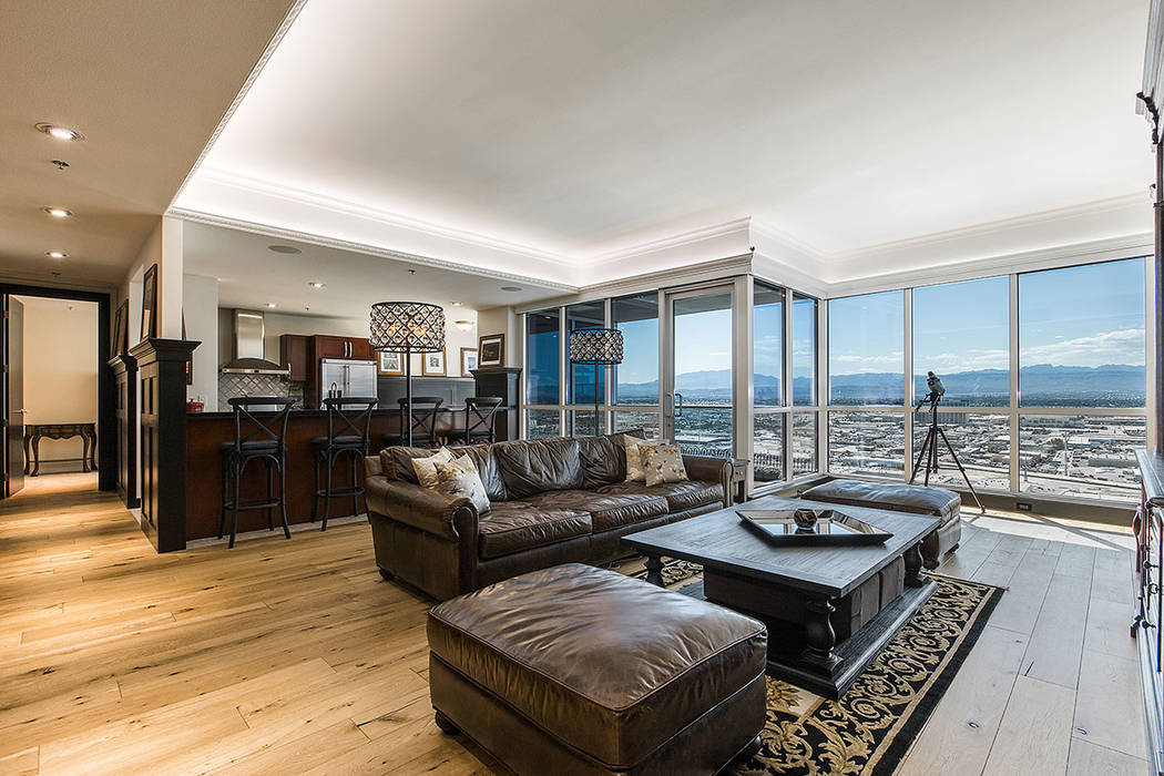 Some professional athletes and sports executives prefer high-rise condos like this one in the Panorama Towers just off the Strip. (Shapiro & Sher Group)