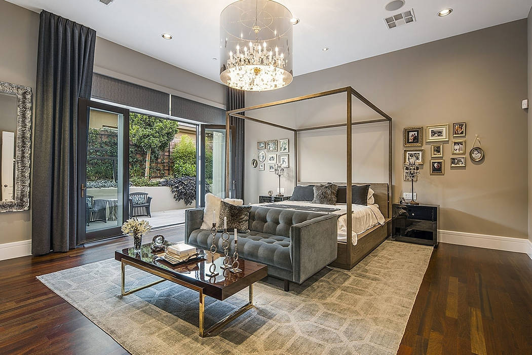 The master bedroom in The Ridges home has its own private balcony. (Shapiro & Sher Group)
