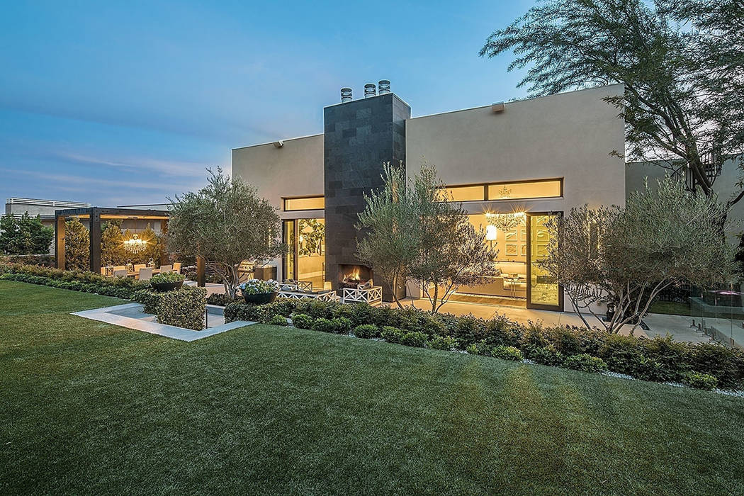 The Ridges home has a modern design and measures 8,922 square feet. (Shapiro & Sher Group)