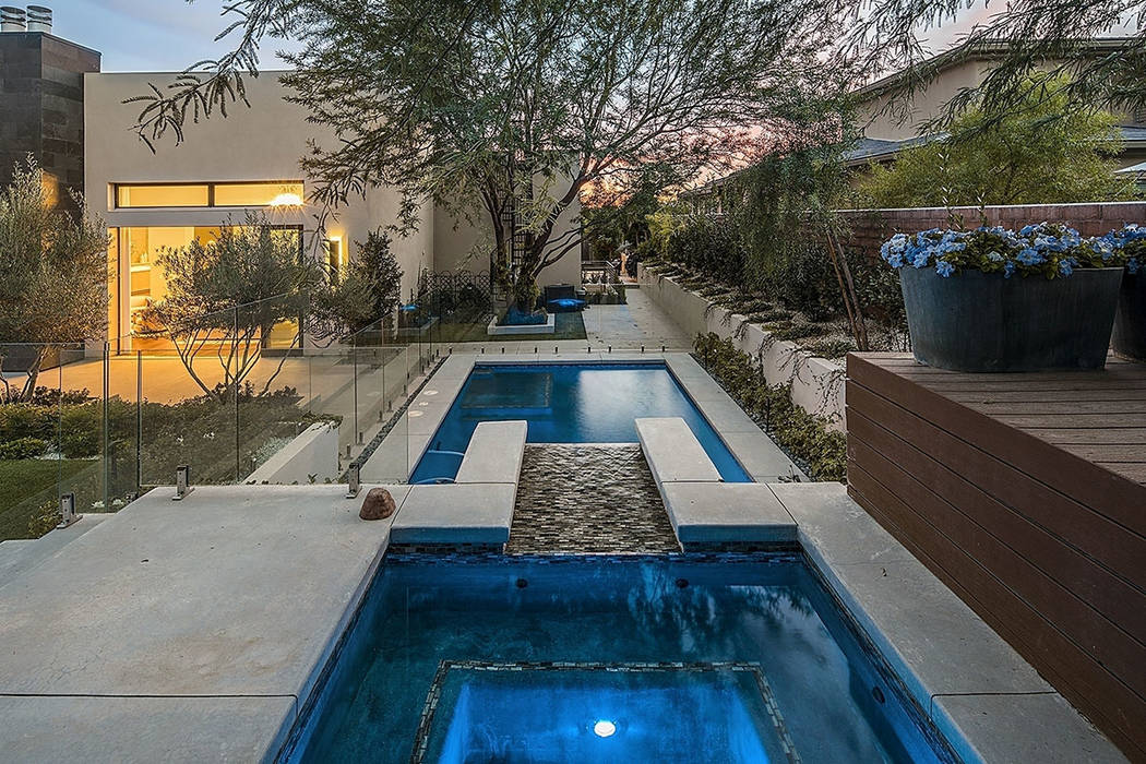The pool and spa at home in The Ridges. (Shapiro & Sher Group)