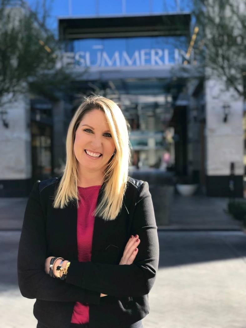 Halee Harczynski, marketing director, Downtown Summerlin