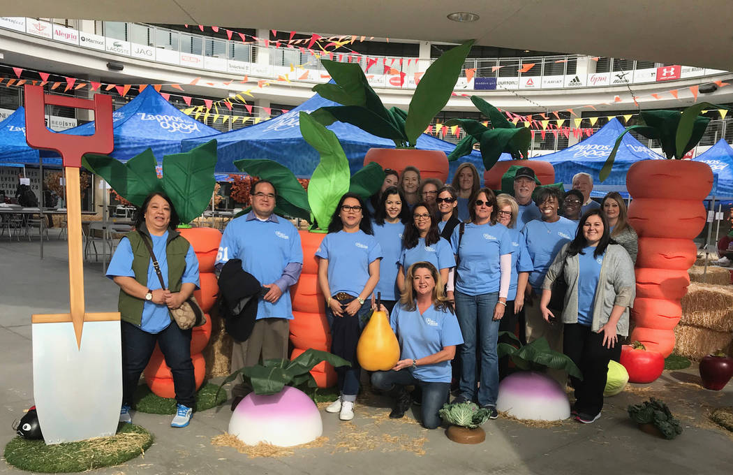 More than 30 Bank of Nevada employees assisted students from dozens of elementary, middle and high schools in the Clark County School District during a large farmer's market in November in downt ...
