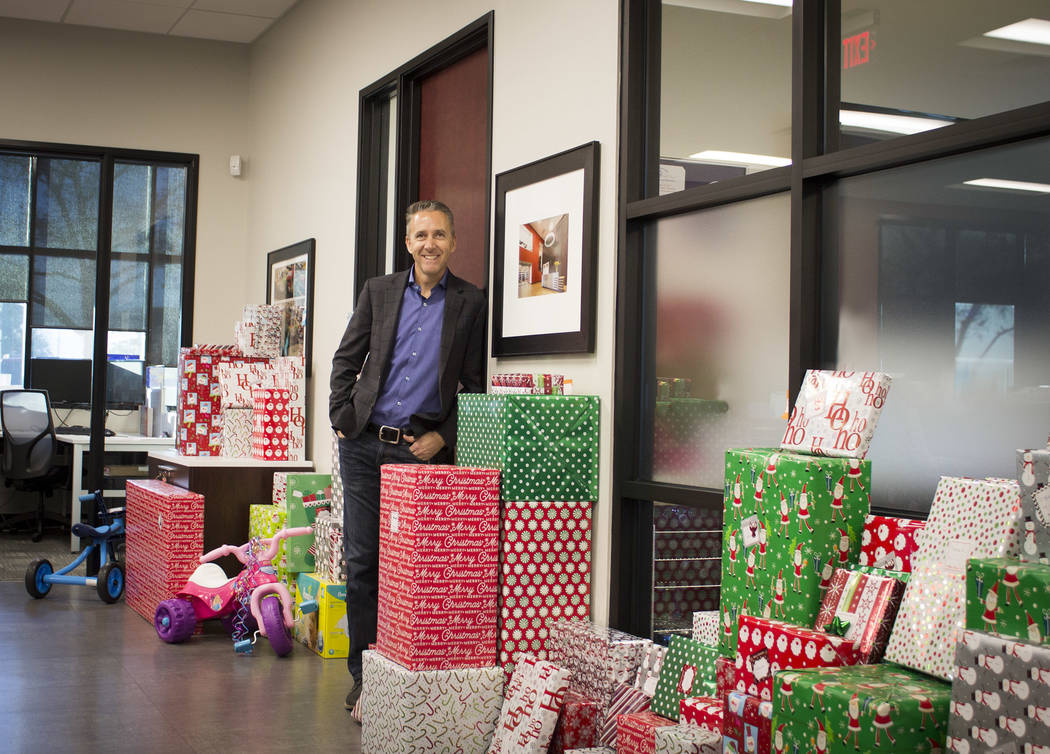 Shawn Danoski, CEO/founder of DC Building Group, had his company adopt families this year through Nevada Childhood Cancer Foundation for the holidays. (Courtesy)