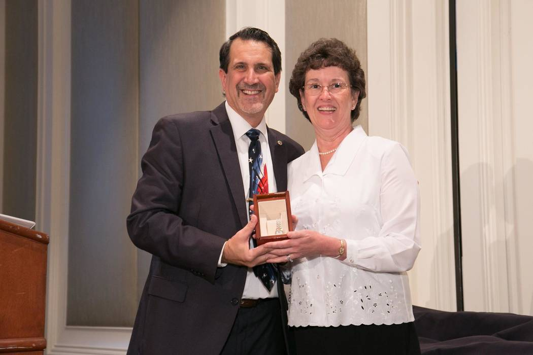 SNHBA Executive Director Nat Hodgson presented a gold watch to Public Affairs Director Monica Caruso for 37 years of service to the association. Hodgson announced that Caruso has accepted the posi ...