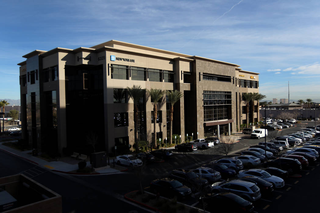 OneRepublic frontman Ryan Tedder lead a group to purchase a 105,000-square-foot Class A office building at 6325 S. Rainbow Blvd. (K.M. Cannon RJRealEstate.Vegas)