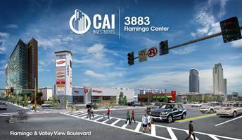 CAI Investments broke ground on a new multimillion dollar, 27,000 square feet of retail and restaurant space on Flamingo Road and Valley View Boulevard.