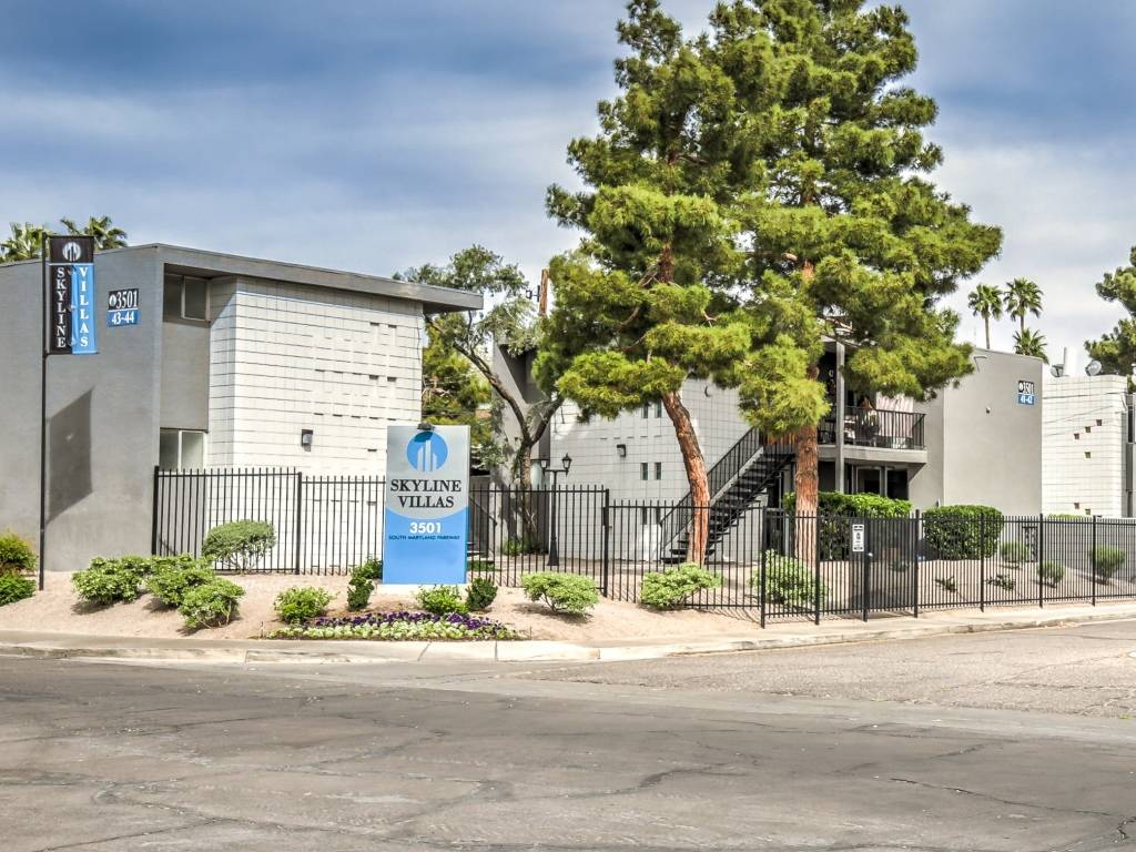 Colliers International arranges the sale of the Skyline Villas apartments at 3501 S. Maryland Parkway for $7,385,000.